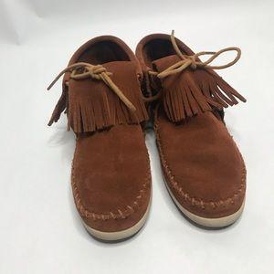 Minnetonka fringed booties